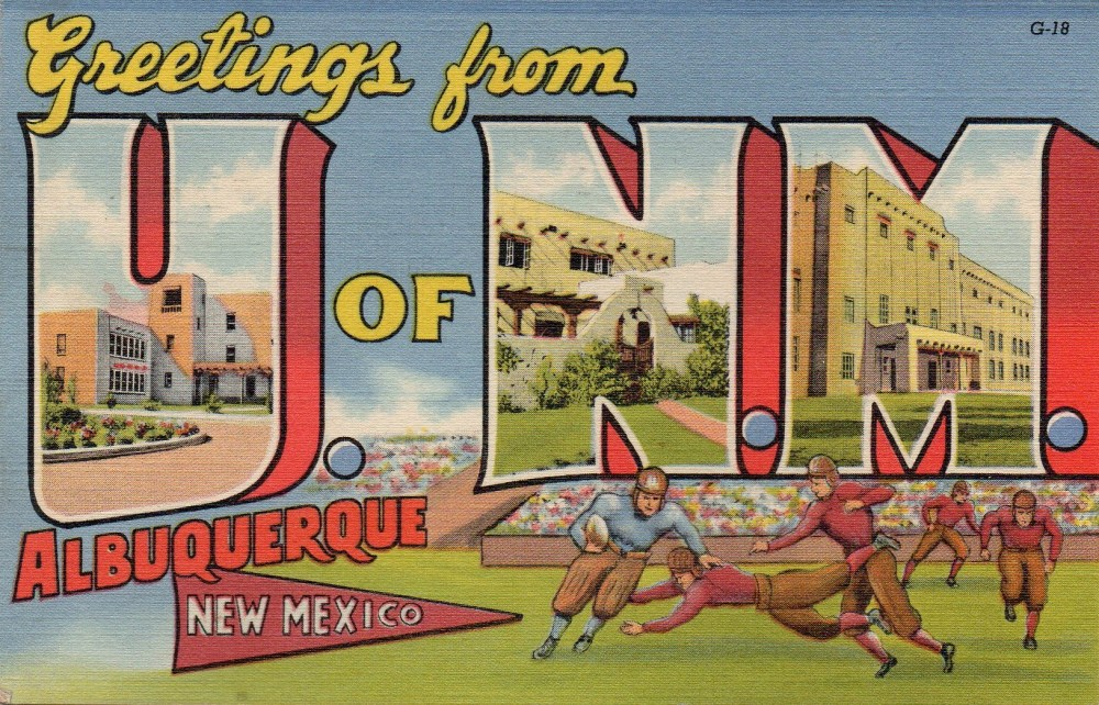 Vintage University of New Mexico Postcard