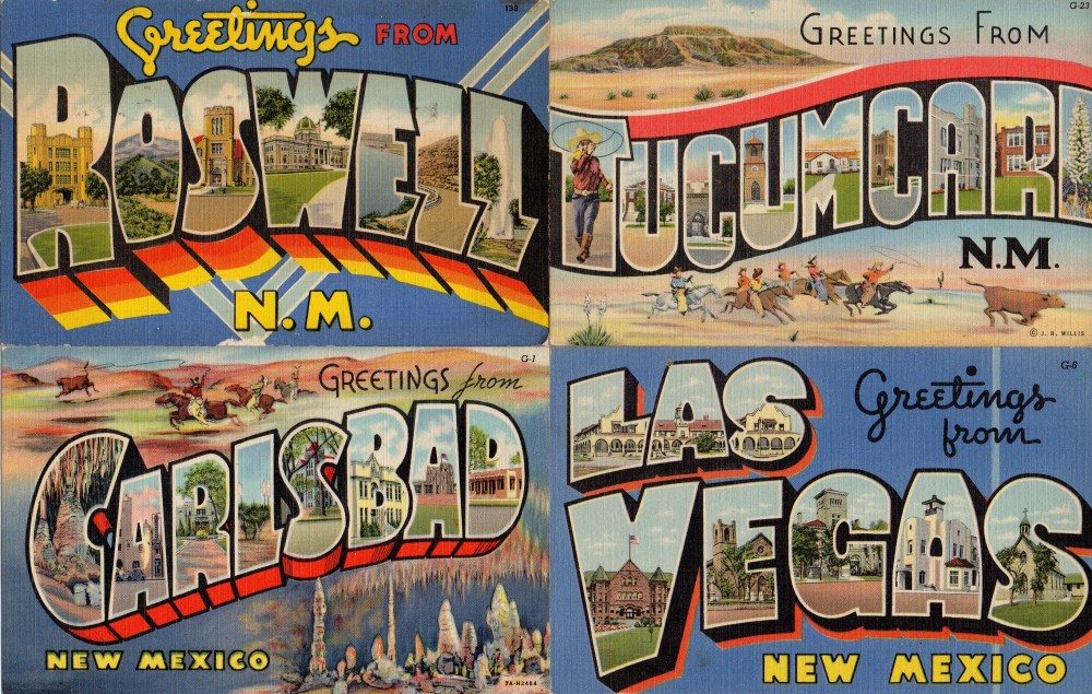 Vintage Linen New Mexico Postcards