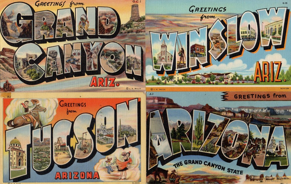 Vintage Linen Southwest Postcards