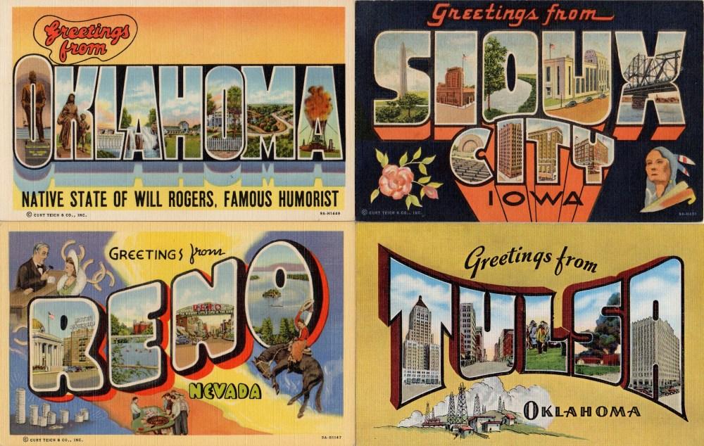 Vintage Linen Southwestern Postcards 2