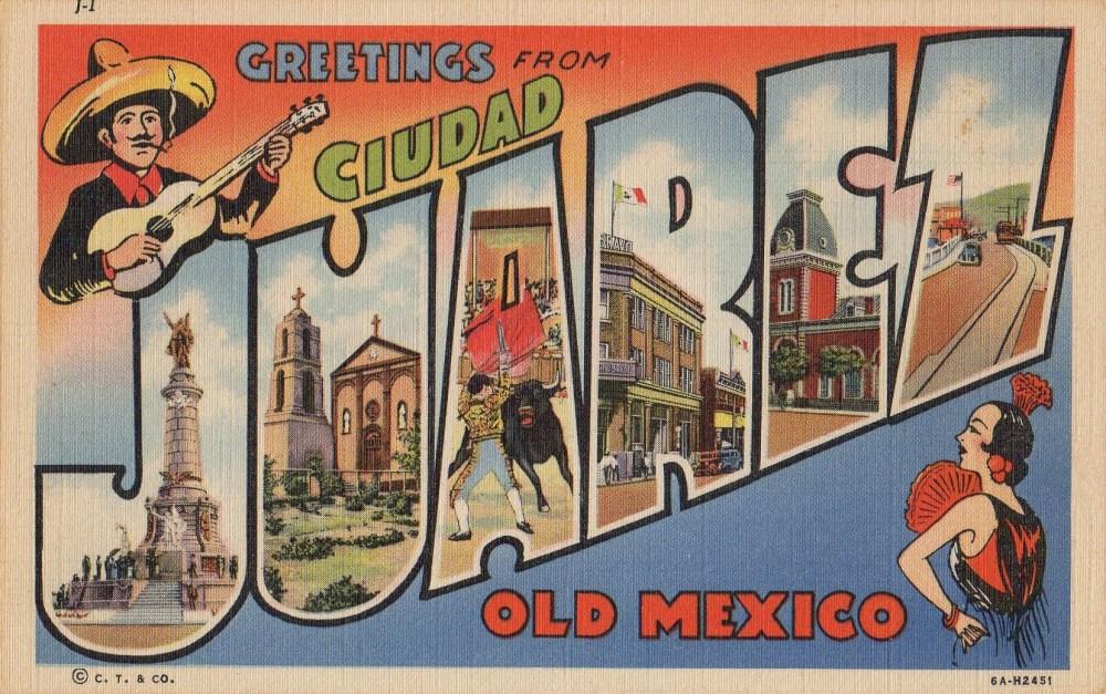Juarez Vintage Linen Postcard