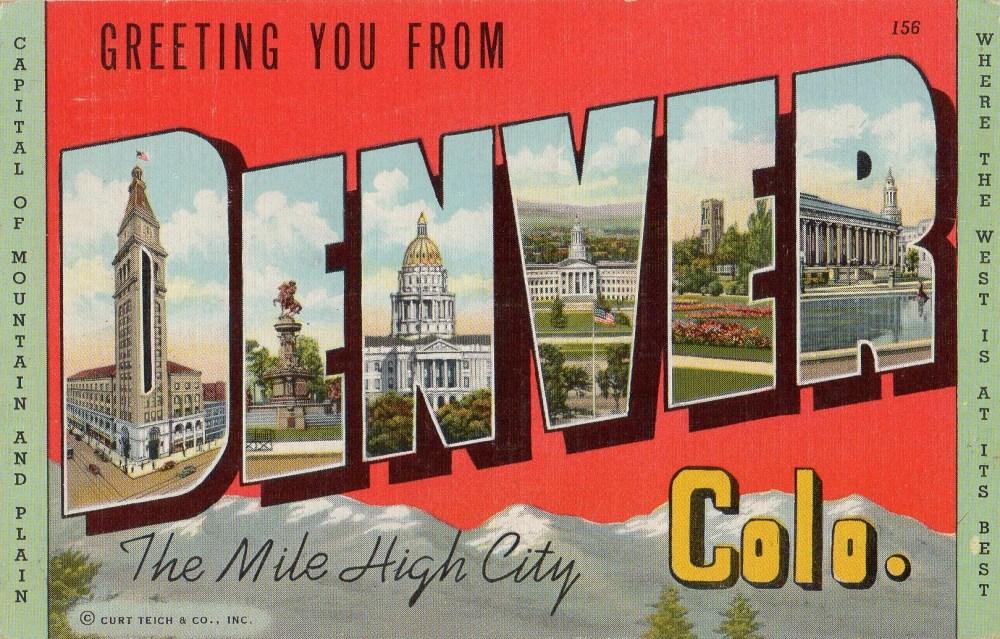 Denver Vintage Linen Postcard