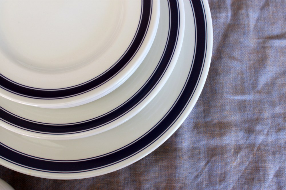 Ralph Lauren Cafe Stripe Plates