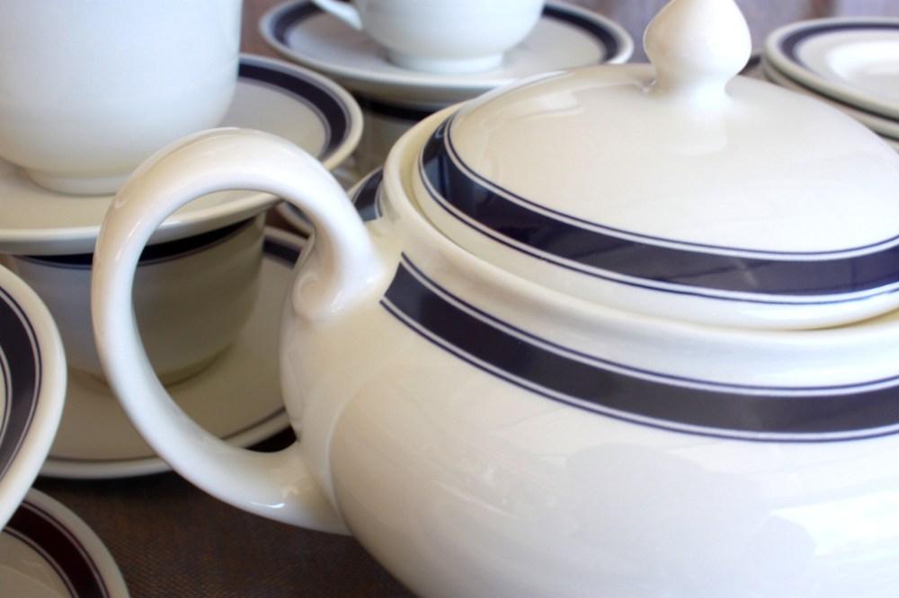 Ralph Lauren Cafe Stripe Teapot