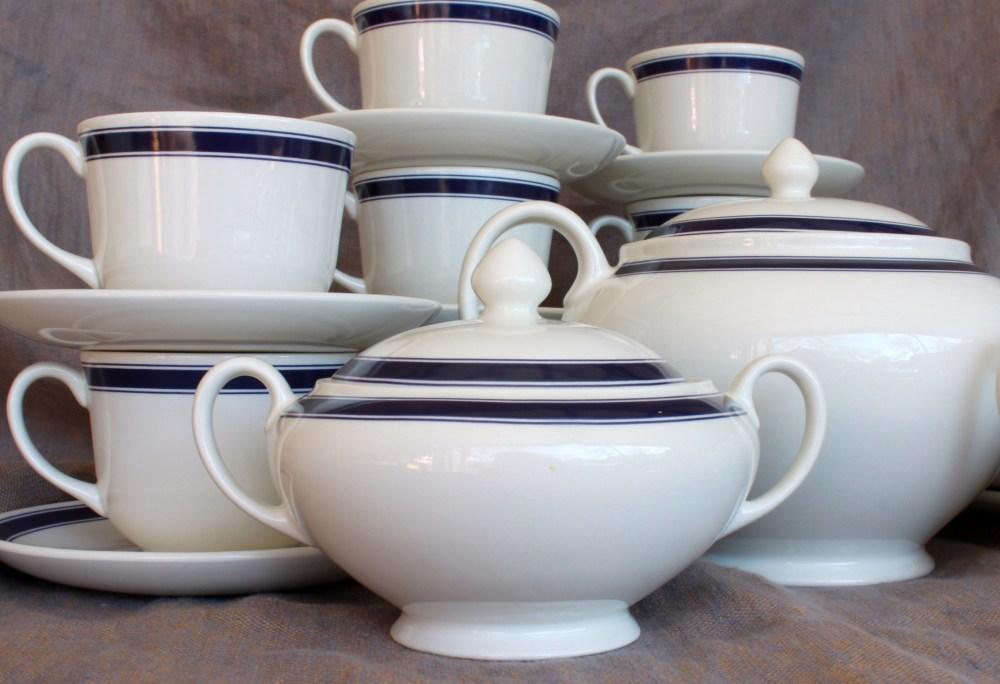 Ralph Lauren Cafe Stripe Sugar Bowl
