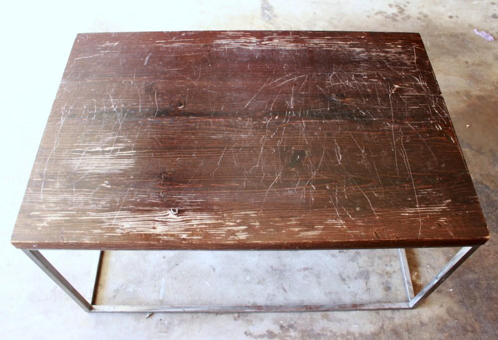 Modern Wood Top Coffee Table