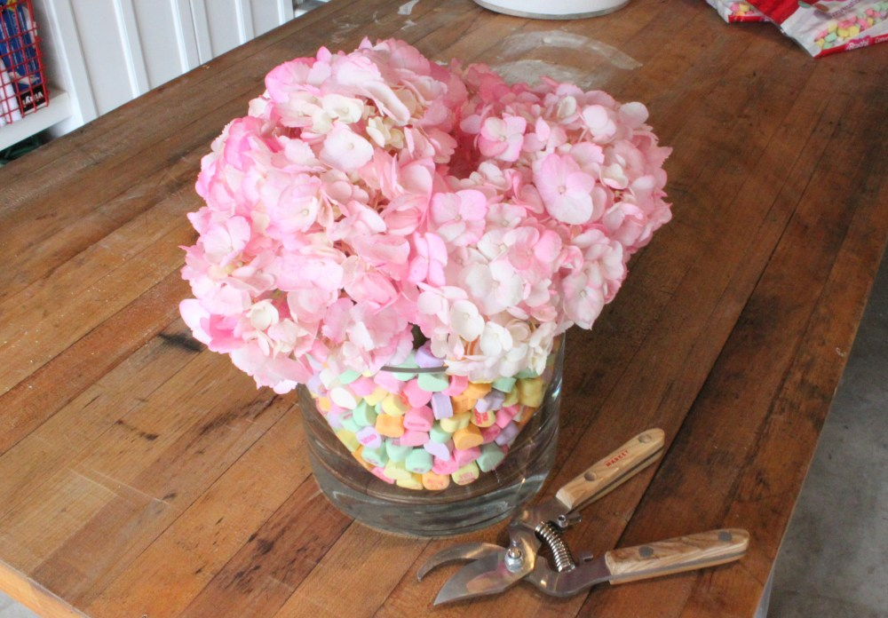 Pink Hydrangea added to Vases