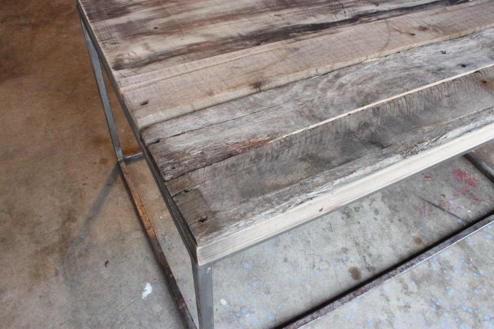 Old Pallet Wood on top of Coffee Table