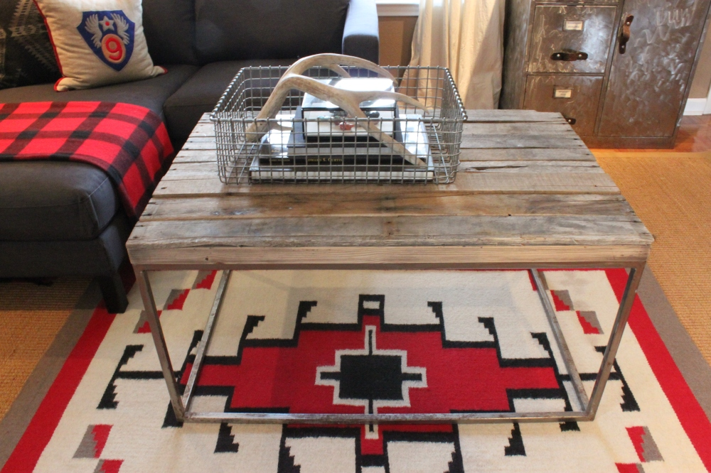 Pallet Wood Coffee Table in Living Room