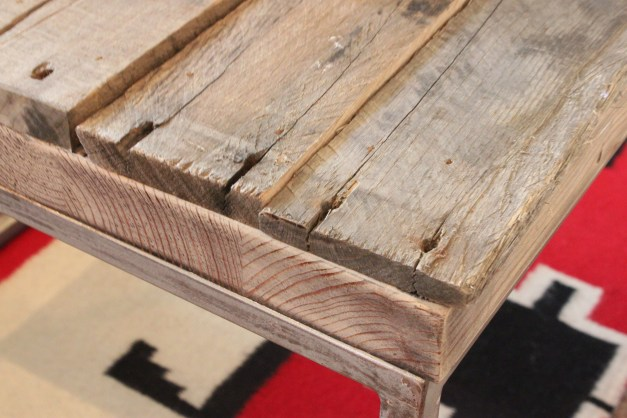 Raw Edge of the Pallet Coffee Table