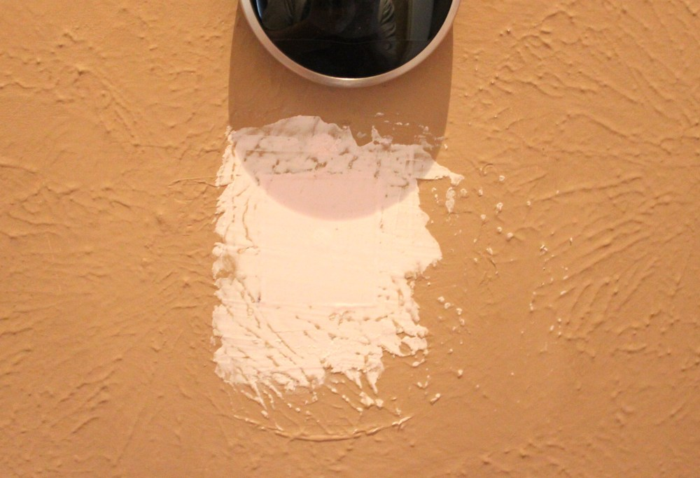 Spackle Covered Holes