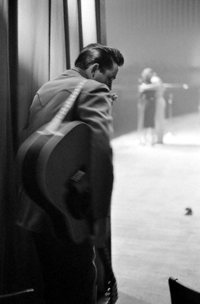 Johnny Cash Watching from Backstage