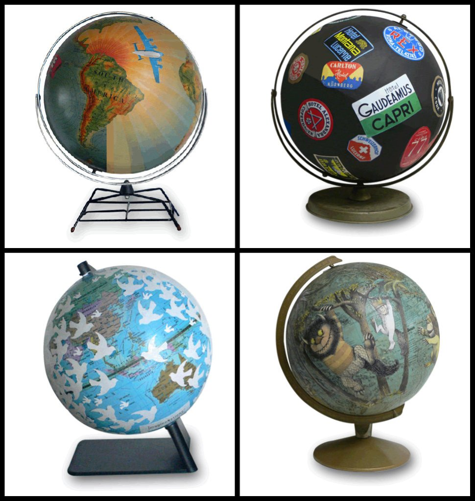 ImagineNations Vintage Globe Collage