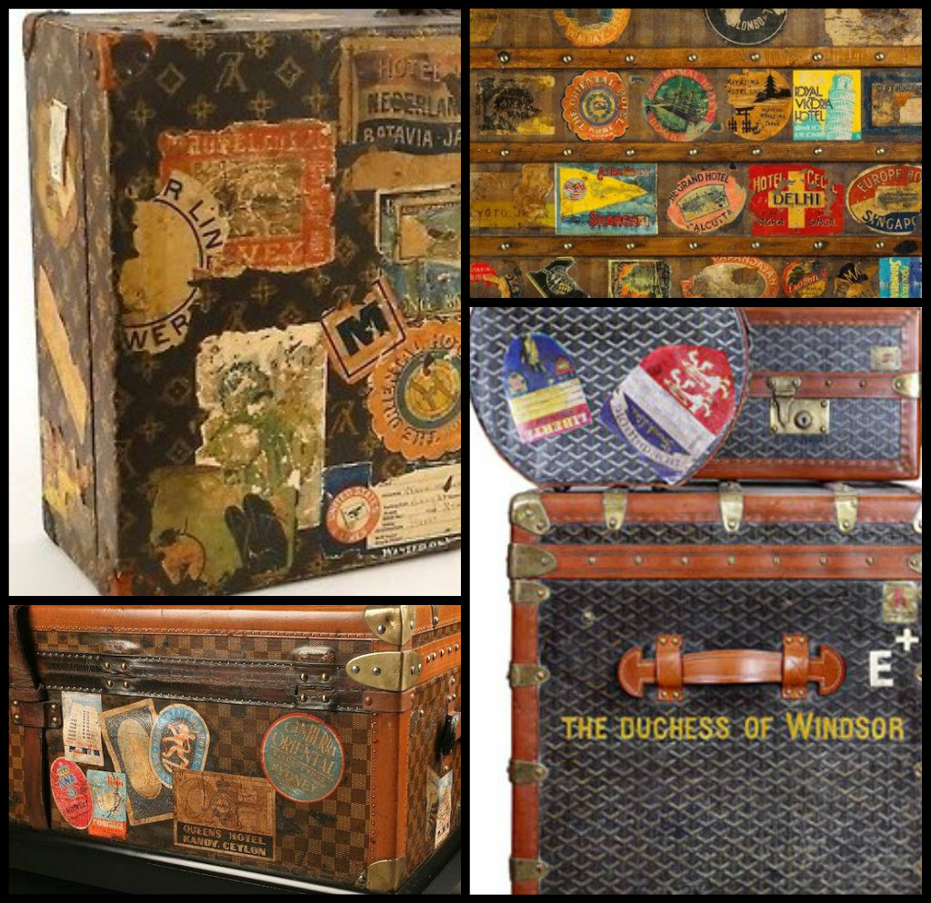 Vintage Travel Trailers: Vintage Steamer Trunk