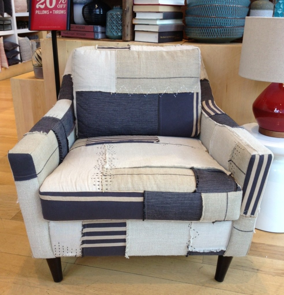 West Elm Everett Chair in Patchwork