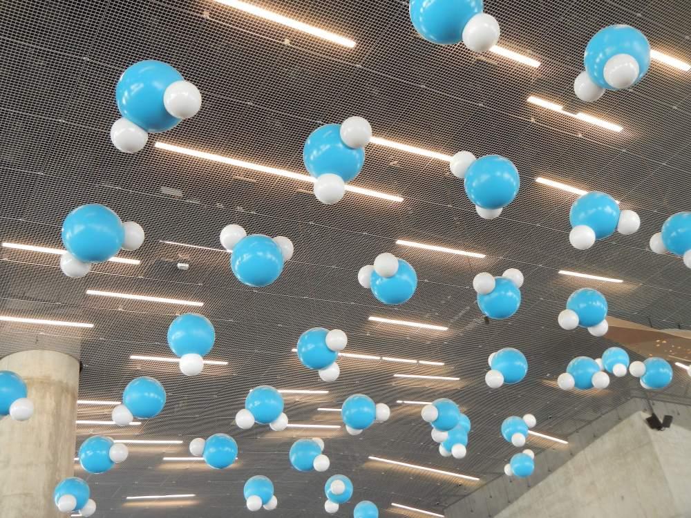 Blue Orbs in the Lobby