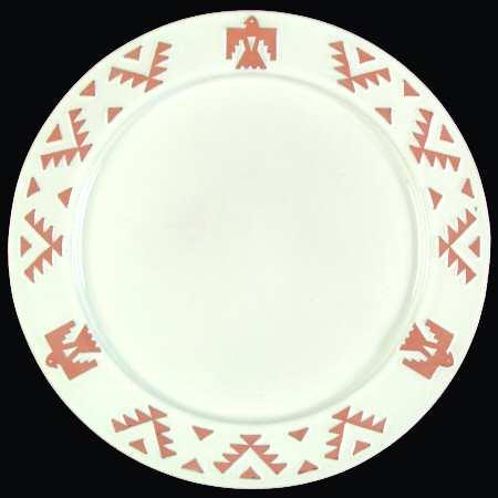Frankoma Native American Plate in White