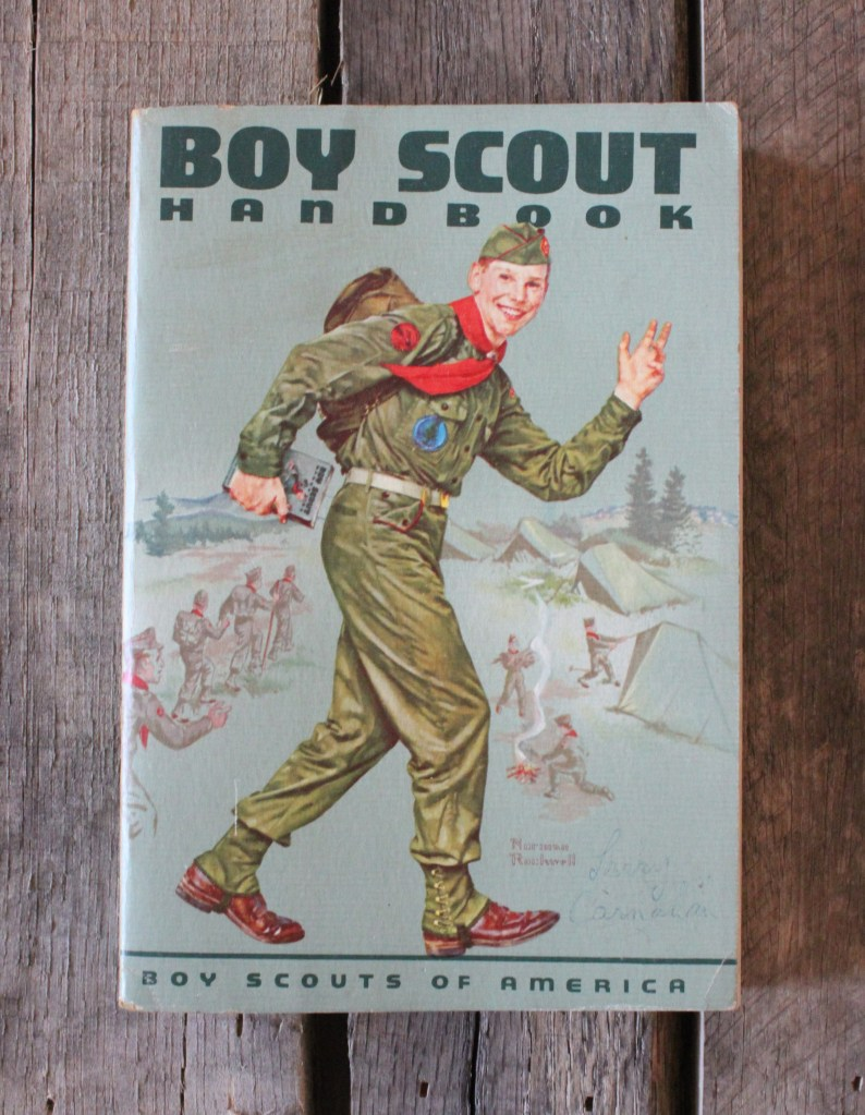 Boy Scout Handbook with Normal Rockwell Cover