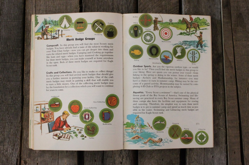 Merit Badges in the Boy Scout Handbook