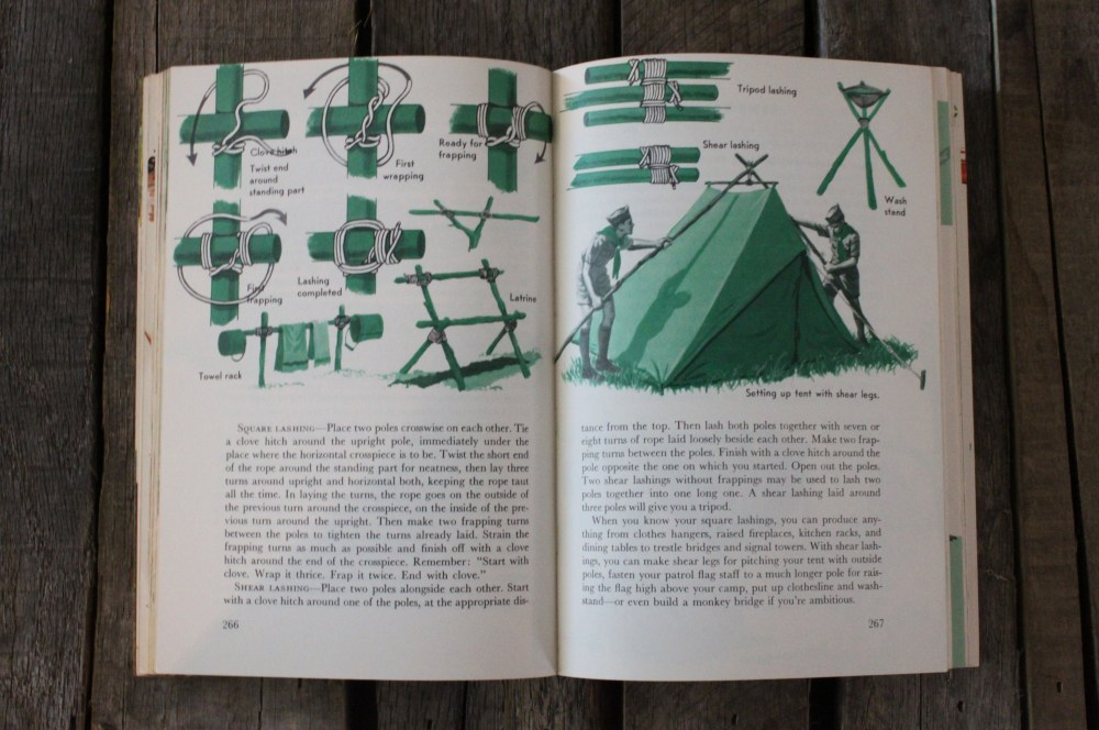 Setting up a Tent the Boy Scout Handbook