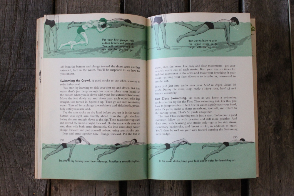 Basic Swimming inthe Boy Scout Handbook
