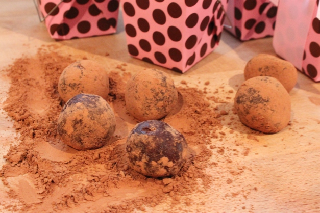 Homemade Truffles rolled in Cocoa Powder