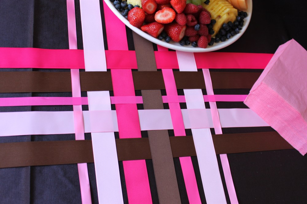 Woven Ribbons as a Table Runner