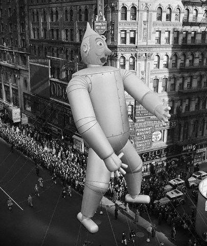 Tin Man Balloon in Macy's Parade
