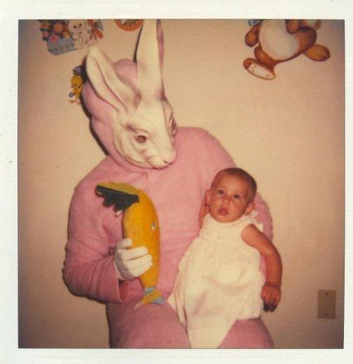 Pink and Creepy Bunny