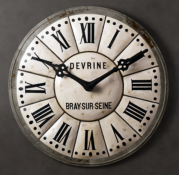 Restoration Hardware Big Clock