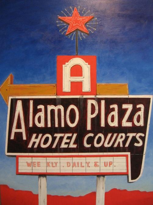Alamo Plaza Painting