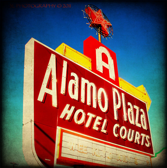 Alamo Plaza Sign from Etsy