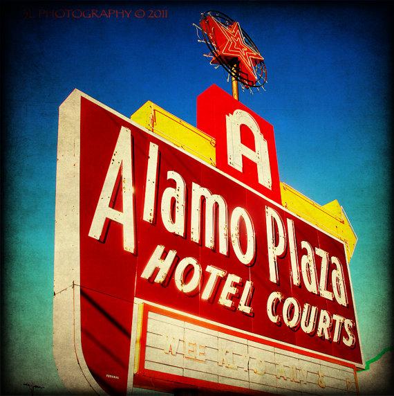Alamo Plaza Sign from Etsy