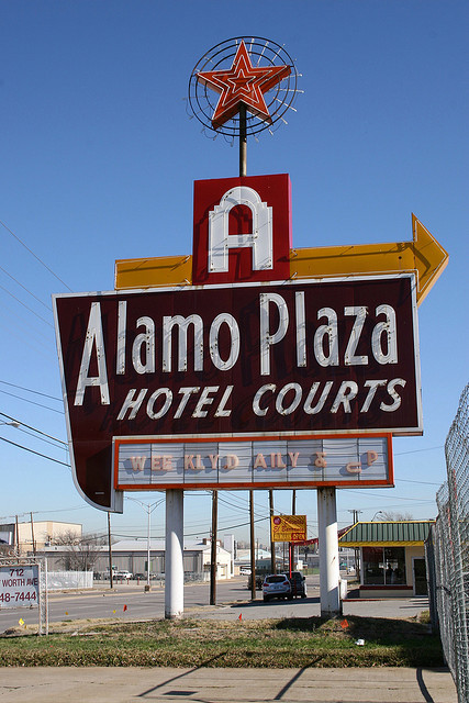 Alamo Plaza Sign on Ft Worth Ave