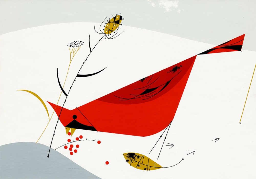 Charley Harper Cardinal In the Snow