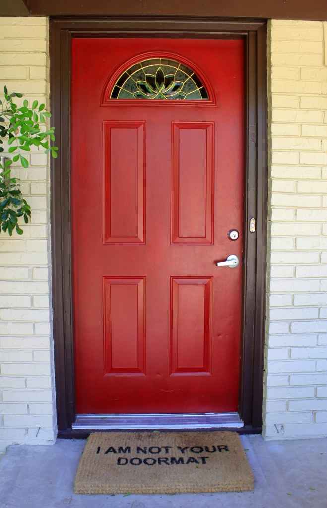 Red Front Door from Christmas