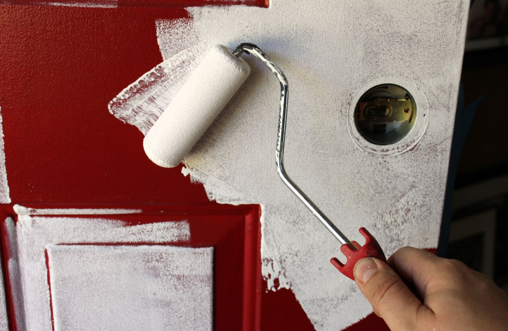 Applying the Primer with a Small Sponge Roller