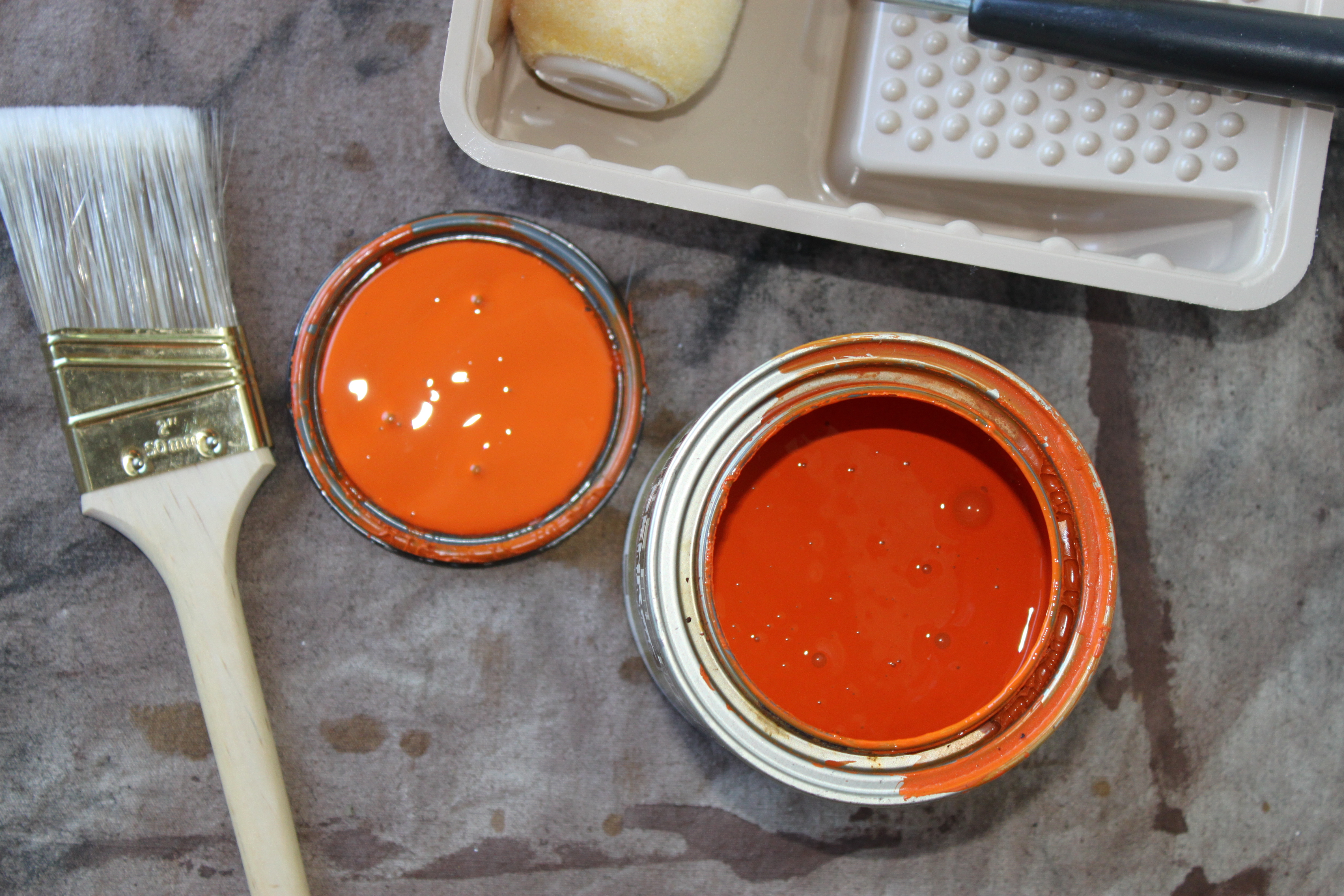 Behr Mandarin Paint In Semi Gloss