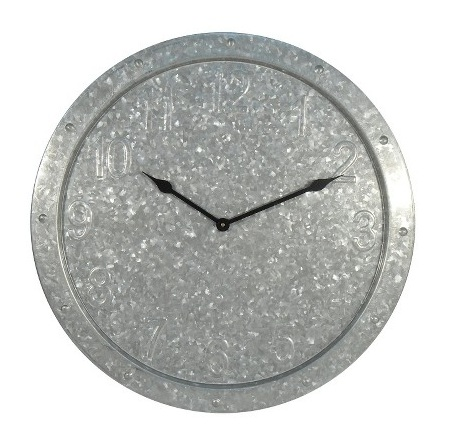 Threshold Galvanized Clock from Target