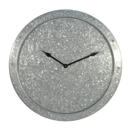 Threshold Galvanized Clock from Target