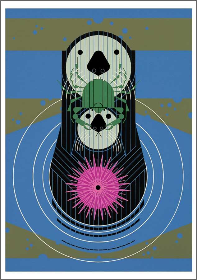 Charley Harper Otters