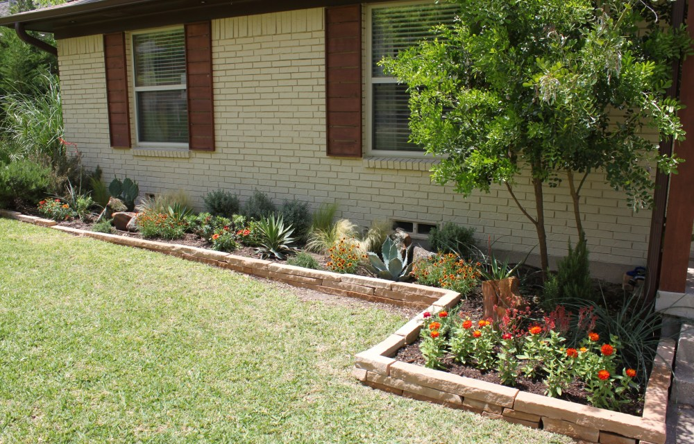 Front Flower Beds on the Left Side of the House