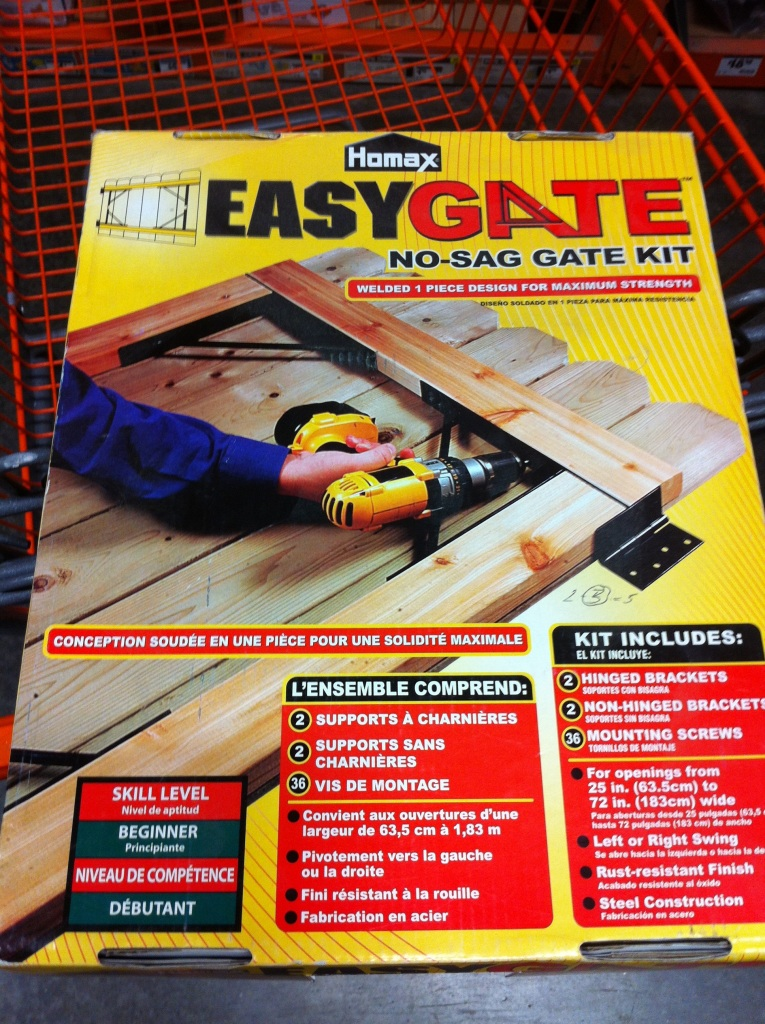 Gate Leveling Kit from Home Depot