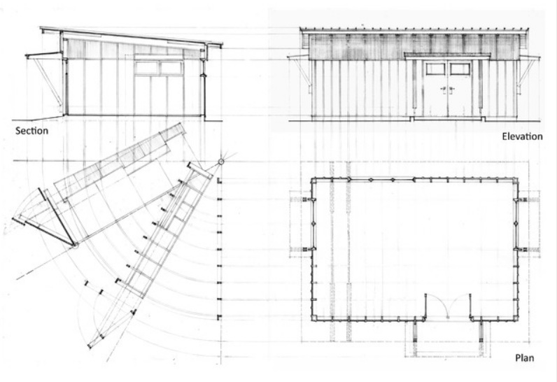Modern Workshed Blue Print