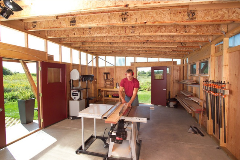 Modern workshed the cavender diary for Design your own garage workshop
