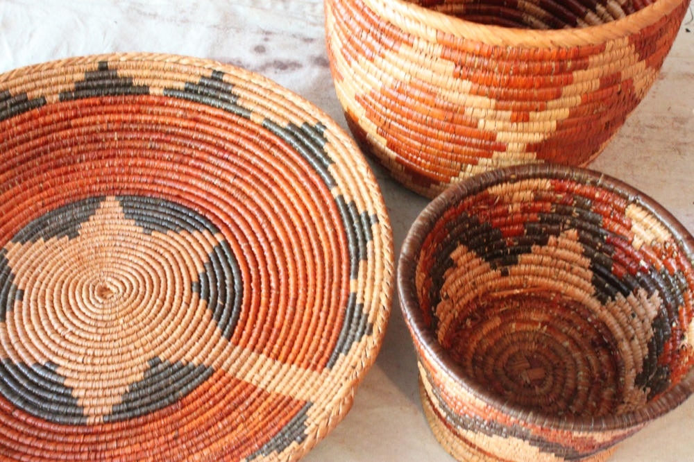 My Baskets After a Coat of Gunstock Stain
