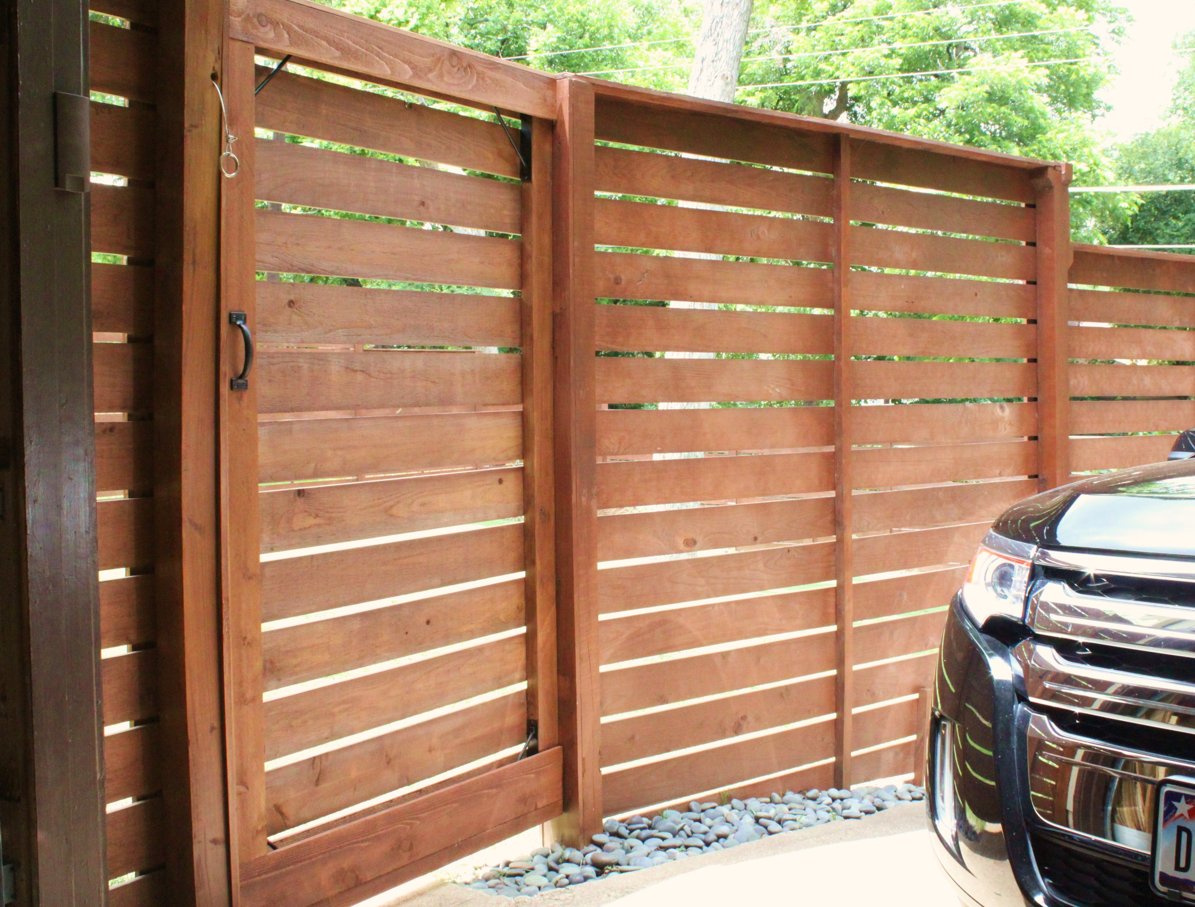 Wood Fence Door Design wood fence gate design ideas New Horizontal Gate From The Back Side