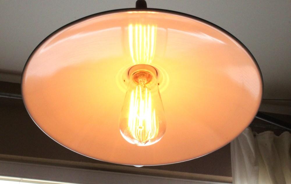 Restoration Hardware Lamp with Edison Bulb