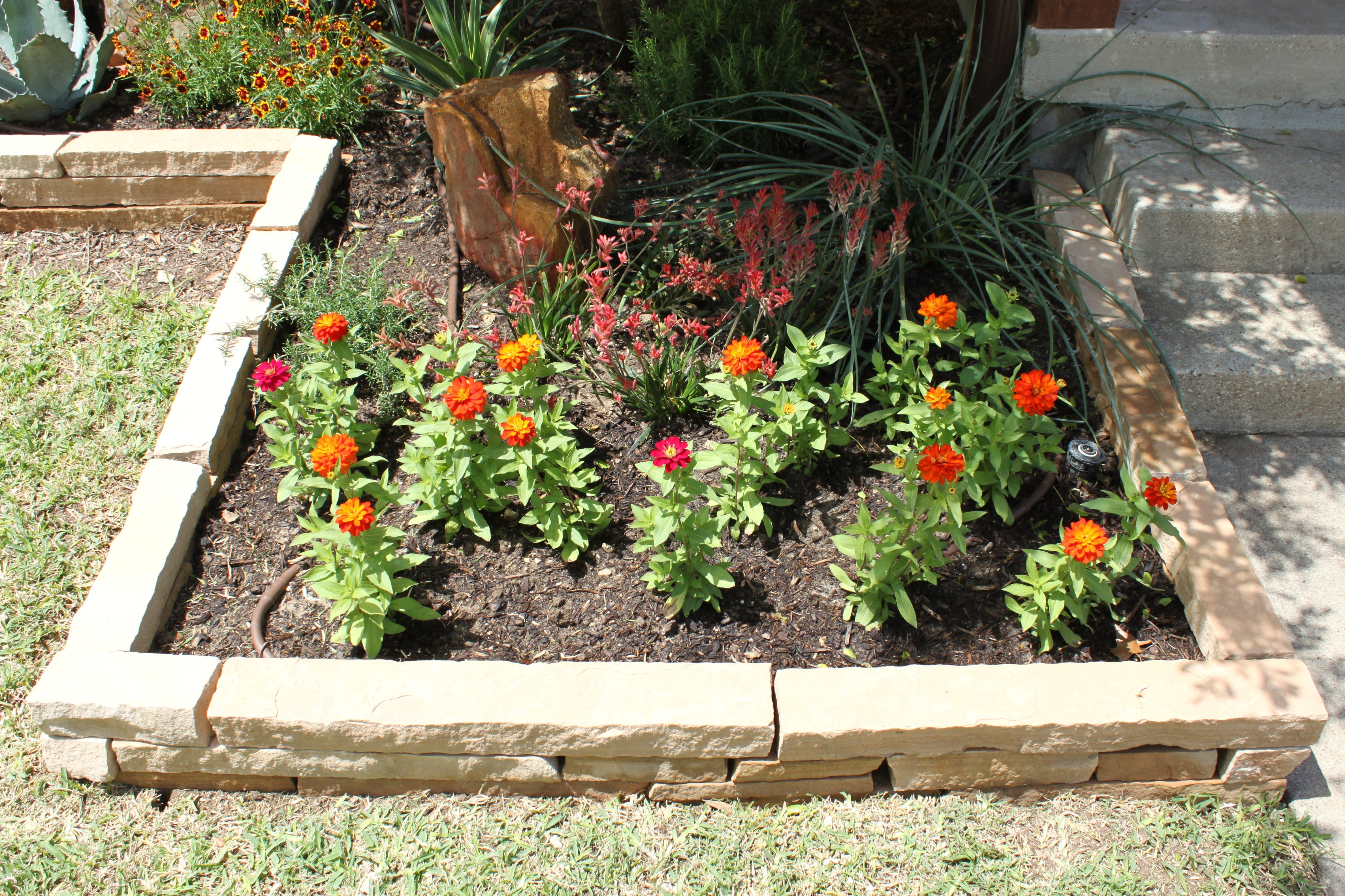 Layered Flower Bed Square Flower Bed Full of