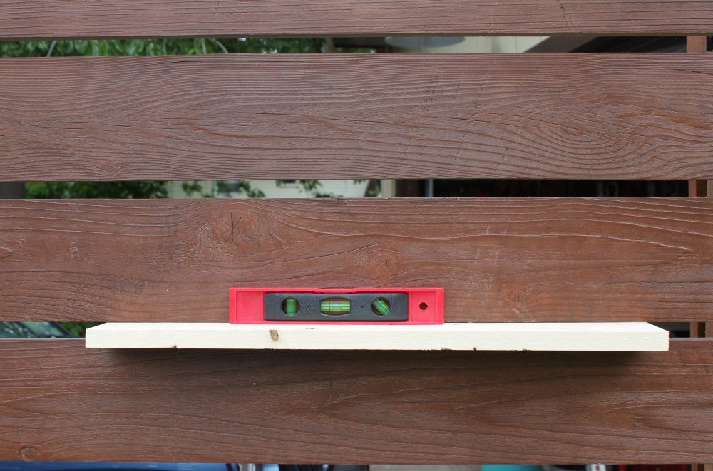 We Used a Board to Gage our Distance Between Slats